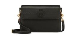 Tory Burch McGraw Crossbody Leather Woman Bag Black Color - ₨16,487.65 INR