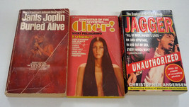 mixed PB 3 rockstar book lot Cher Janis Joplin buried alive Jagger unaut... - $29.70