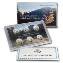 2004 6-Coin Westward Journey Nickel Set (w/Box & COA)  - $19.95