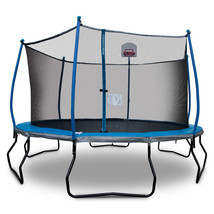 14' Trampoline with Safety Enclosure and Basketball System - $484.11