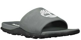 Men's Timberland FELLS SLIDE SANDALS, TB0A1XAE 033 Mult Sizes Grey/CASTL... - $49.95
