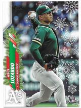 Jesus Luzardo 2020 RC Topps Holiday Photo Variation SP. Oakland Athletics. - $6.00