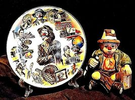 Emmett Kelly Clown Music Box, Plate and Pin AB 536 Vintage 1989 image 4
