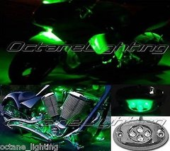 OCTANE LIGHTING 1Pc Green Led Chrome Accent Module Motorcycle Chopper Frame Neon - $4.90