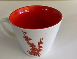 2008 Starbucks Coffee Mug ~ Red Cherry Blossom / Flowers - $10.00
