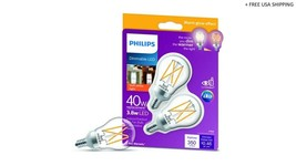 Philips G16.5 E26 (Medium) LED Bulb Soft White 40 Watt 2 PK - 548917 - $8.90
