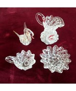 Lot of Vintage Mini Handblown Glass Figurines -Swan - Pitcher - Cup and ... - $14.50