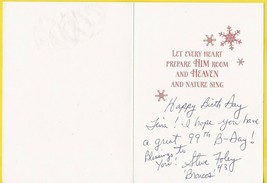 STEVE FOLEY AUTOGRAPHED AND WRITTEN BIRTHDAY CARD CHRISTMAS CARD DENVER ... - £4.93 GBP