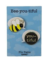 Pin Pairs Set Of 2 Lapel/ Hat Pins Tie Tacks w/ Colorful Enamel- Bee-you... - $133,40 MXN