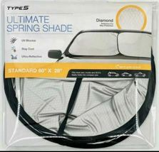Type S Ultimate Spring Sunshade - Silver and Black -Size:Standard NEW IN PACKAGE image 3