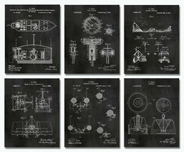 """SET of 6 Space Patent Prints - 8""""x10"""" Wall Art Decor - Great Gift for Engineers - $18.99"""