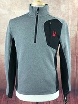 NWT Spyder 1/2 Zip Fleece Lined Pullover Gray Sweater Jacket Men's S MSR... - $49.34
