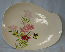 "Red Wing Pink Spice 15"" Mid Century Oval Platter - $55.33"