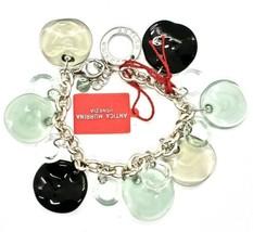 Bracelet Antica Murrina Venezia Shiva Murano Glass Discs Black BR316A12 image 2