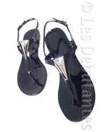JEWELLED SANDALS SUMMER FESTIVAL POOL HOLIDAY RAIN HI SHINE JELLY SHOES - $19.99
