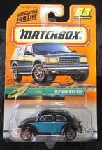 1999 Matchbox   Black and Teal '62 VW Beetle  Card #53 - $4.95
