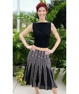 Black & White Skirt~Willi Smith 4~Embroidered Detail~100% Cotton~Lined~W... - £23.56 GBP