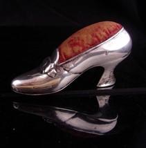 Antique Gorham Sterling Silver Shoe / vintage Pin Cushion / Birthday gif... - $425.00