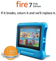 Fire 7 Kids Edition Tablet, 7  Display, 16 GB, Blue Kid-Proof Case - $120.99+