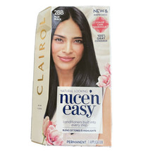 Clairol Nice 'n Easy 2BB Blue-Black Permanent Hair Color 100% Gray Cover... - $9.87