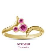 14k Yellow Gold 925 Silver Pink Tourmaline October Birthstone Mickey Mou... - $25.99