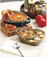 Stoneware Soup and Side Bowls Set of 2 Choose Color - $29.95