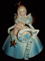 Vintage Josef Originals Birthday Angel Girl Doll Age 9 Ceramic Figurine With Tag - $24.74