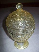 Avon Topaz Glass Candy Dish or Vanity Jar 1960 - $9.95