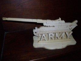 wood Army wood display  - $21.00