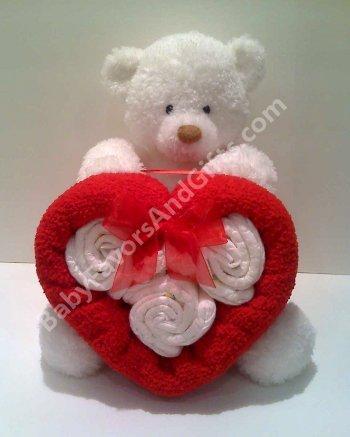 Valentine diaper cake