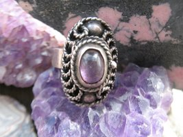 Art Deco Mexico sterling silver amethyst poison... - $80.00