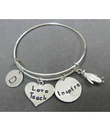 Teach Love Inspire Expandable Bracelet, Teacher Appreciation Gift,studen... - $16.50