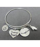 Teach Love Inspire Expandable Bracelet, Teacher Appreciation Gift,studen... - $16.50