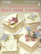 Keepsake Boxes in Plastic Canvas Leisure Arts 1189 9 Designs on 7 mesh C... - $4.99