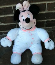 Disney Minnie Mouse Vintage Plush Baby Toy Rattle Doll Lovey Soft Nursery Pajama - $73.29