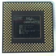 Intel Celeron SL3FL 466 Mhz Vintage Gold Pin CPU Processor Socket 370 Me... - $10.00