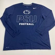 Nike Dri-Fit Active Shirt Mens 2XL XXL Navy Crew Neck Penn State Nittany... - $22.95