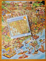 Bits and Pieces Len Epstein Family Summer Camp Jigsaw Studio Puzzle 1000 Pcs - $14.03