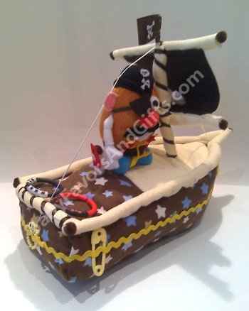 Pirate Ship Diaper Cake