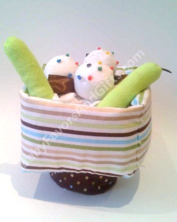 Pickles And Ice Cream Diaper Cake