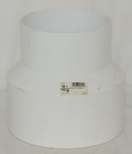 PTI Brand Six Inch By Eight Inch PVC SDR35 Solvent Weld Reducer Coupling