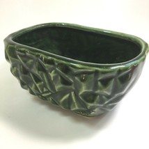 Brutalist Footed Planter Vintage Cookson Pottery Rectangular Faceted USA... - $34.99