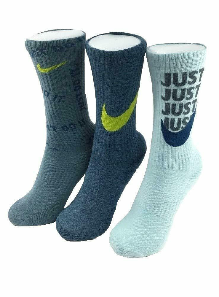 Nike Youth 3PK Everyday Cushioned Graphic Crew Socks 5Y-7Y SX7070-950 image 2