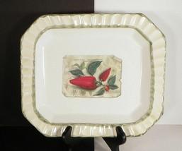 Zrike Sorrento Red Pepper Rectangular Dinner Plate 11-3/4 Italy - $19.75