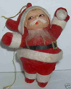 Christmas Vacation Blow Mold Santa Ornament