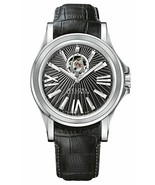 "NWT Bulova Men's 63A101 ""Kirkwood"" Swiss Automatic Black Leather Watch - $544.45"