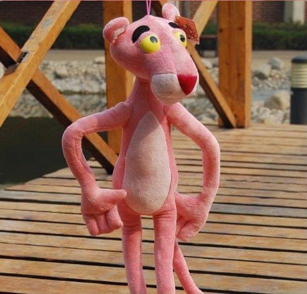 "Official Kids/' Pink Panther Stuffed Doll Soft Plush Pink Medium 21/"" Toy Display"