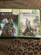 Assassin's Creed: Revelations And Assassins Creed III (Microsoft Xbox 360, 2011) - $9.50