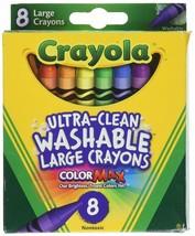 NEW Crayola Large Washable Non Toxic Crayons Nonporous 52-3280-NEW - $22.01