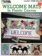 Welcome Mats Cat, Reindeer, Cow Plastic Canvas PATTERN/INSTRUCTIONS - $3.57
